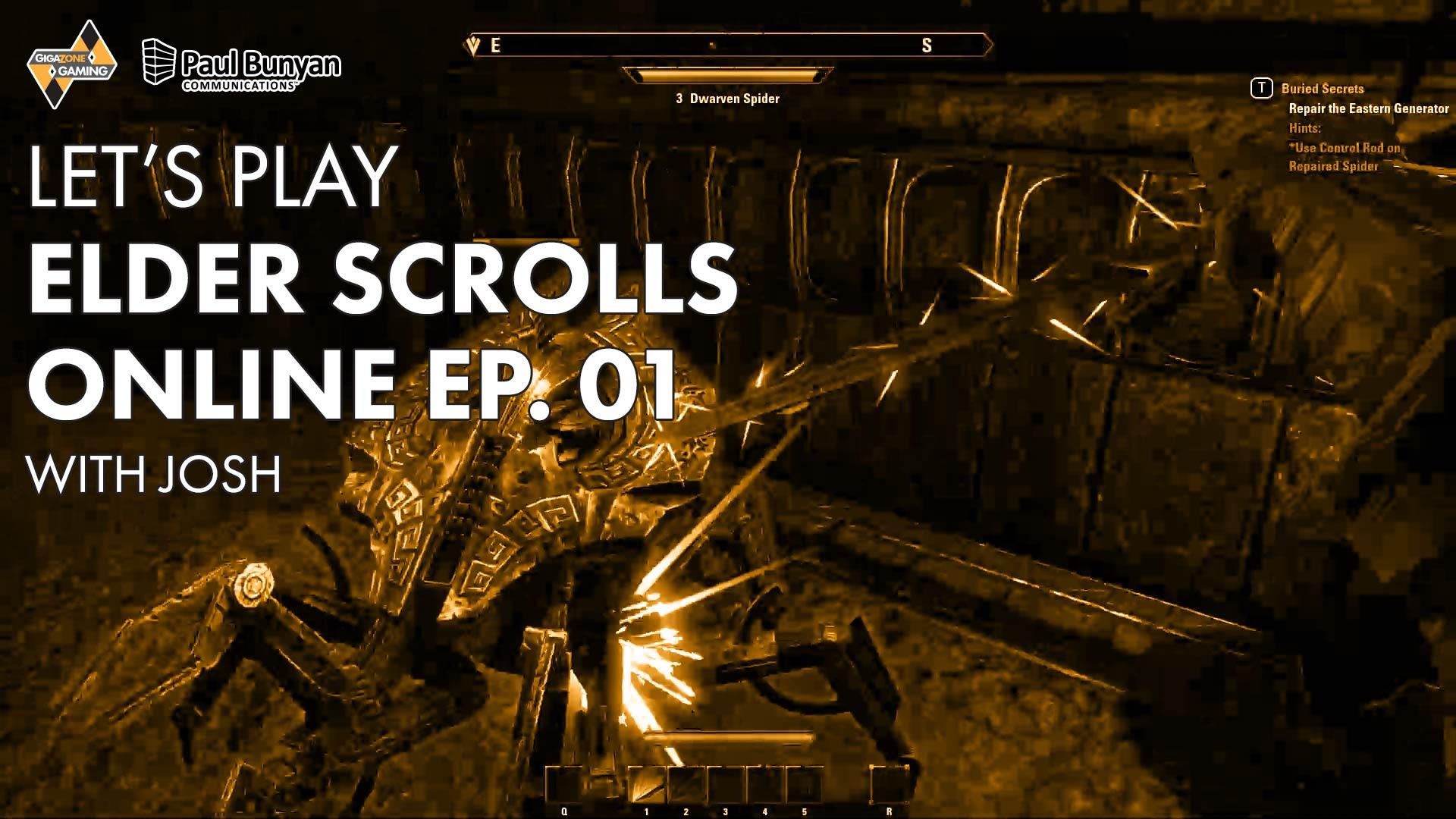Let's Play Elder Scrolls Online Ep  1 with Josh » GigaZone